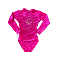 Long Sleeve Diamonte Velour