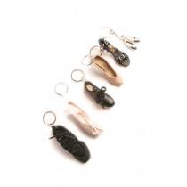 Metal Ballet Shoes keyring