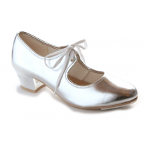 Katz-PU-Silver-Cuban-Heel-Tap-Shoes